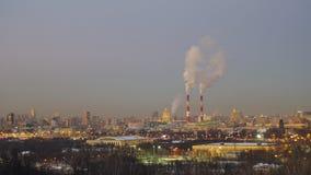 Красивая панорама зимы Москвы Стоковые Фотографии RF