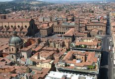 Красивая панорама исторического города болонья, Италии Стоковое Фото