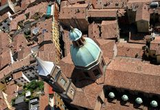 Красивая панорама исторического города болонья, Италии Стоковые Изображения RF