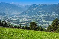 Красивая панорама Лихтенштейна Стоковая Фотография