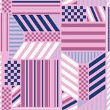 Красивая пастельная безшовная картина со смелыми блоками нашивки смешивает с дизайном checkered современных элементов стиля ультр иллюстрация штока