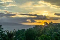 Красивая перспектива в Munduk, Бали стоковое изображение