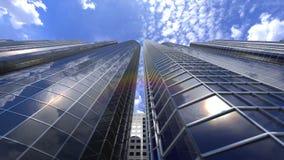 Красивая петля небоскребов видеоматериал