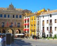 Красивая площадь в Cuenca Испании стоковые фотографии rf