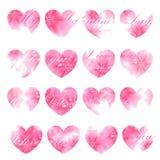 Красивая поздравительная открытка Пинк зацвел сердца Illustrati вектора Стоковое фото RF