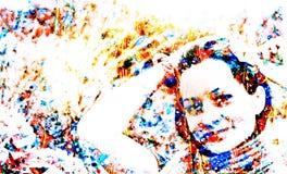 Красивая покрашенная девушка Стоковое Изображение