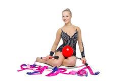 Красивая подростковая девушка гимнаста Стоковое Изображение