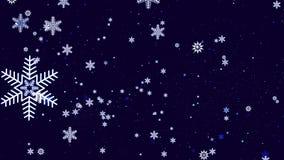 Красивая праздничная предпосылка с снежинками Стоковое Изображение