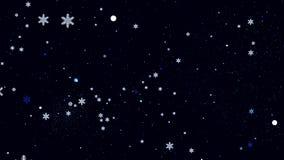 Красивая праздничная предпосылка с снежинками Стоковое Изображение RF