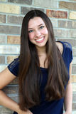 Красивая предназначенная для подростков девушка с длинными волосами Стоковые Изображения