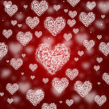 Красивая предпосылка валентинки с сердцами Стоковое Изображение RF