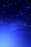 Красивая предпосылка, еженощное небо Стоковое фото RF