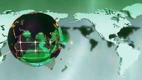 Красивая предпосылка зеленого цвета новостей передачи Loopable
