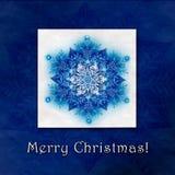 Красивая предпосылка зимы рождества с снежинками Стоковые Изображения RF