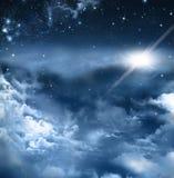 Красивая предпосылка ночного неба Стоковые Изображения RF