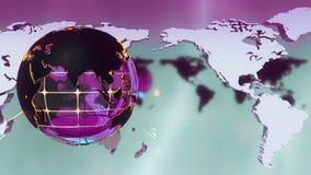 Красивая предпосылка пурпура новостей передачи Loopable