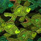 Красивая предпосылка с бесконечной рыбой реки Иллюстрация штока