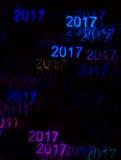Красивая предпосылка с различный покрашенный 2017, abstrac Стоковые Фото