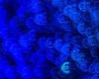 Красивая предпосылка с различным покрашенным евро символа, abstrac Стоковое Изображение RF