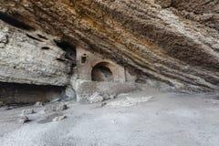 Красивая природа пещеры, пышный вход в пещеру Стоковое Изображение