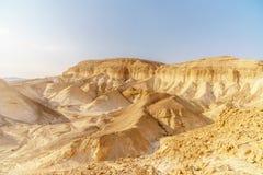 Красивая пустыня природы в сухой judean живописной глуши Внешний сценарный ландшафт стоковые фото