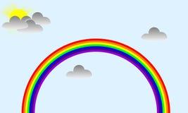 Красивая радуга во время солнечного дня Стоковое фото RF