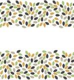 Красивая рамка осени с листьями дуба красочными Стоковая Фотография RF