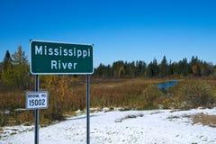Красивая река Миссисипи пропуская северно около парка штата Itasca в Минесоте стоковая фотография