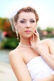 Красивая ретро невеста Стоковое Изображение RF