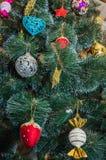 Красивая рождественская елка изолированная на белой предпосылке Стоковые Фото