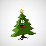 Красивая рождественская елка на светлой предпосылке Стоковое фото RF