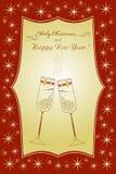 Красивая рождественская открытка с стеклами Стоковые Фотографии RF