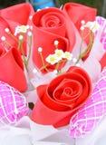 Красивая роза искусственных цветков Стоковая Фотография