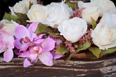 Красивая роза искусственных цветков стоковые изображения rf