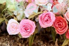 Красивая роза искусственных цветков стоковая фотография rf