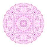 Красивая розовая орнаментальная предпосылка Стоковое Изображение