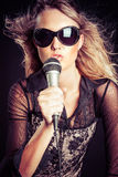 Красивая рок-звезда стоковые фотографии rf