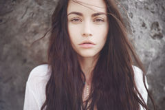 Красивая романтичная дама стоковые фотографии rf