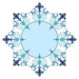 Красивая роскошная круглая рамка Стоковые Изображения