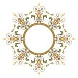 Красивая роскошная круглая рамка Стоковое Фото