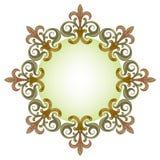 Красивая роскошная круглая рамка Стоковые Фото