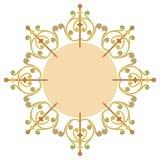 Красивая роскошная круглая рамка Стоковое Изображение RF