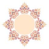 Красивая роскошная круглая рамка Стоковые Изображения RF