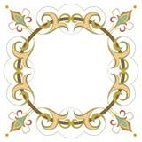 Красивая роскошная круглая рамка Стоковое Изображение