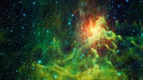 Красивая светлая галактическая туманность Стоковое Изображение