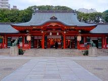 Красивая святыня Ikuta Кобе, Японии стоковое фото rf