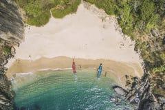 Красивая секретная бабочка пляжа Положение Goa touristic в Индии Стоковое фото RF