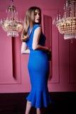 Красивая сексуальная милая фотомодель w девушки женщины светлых волос стороны Стоковое Фото