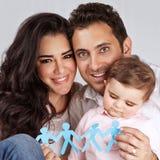 Красивая семья совместно Стоковая Фотография RF