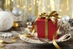 Красивая сервировка стола рождества Стоковые Изображения